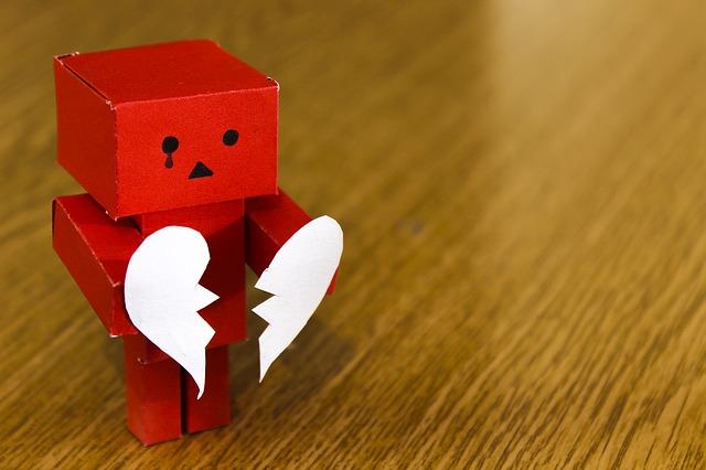 rozervané srdce