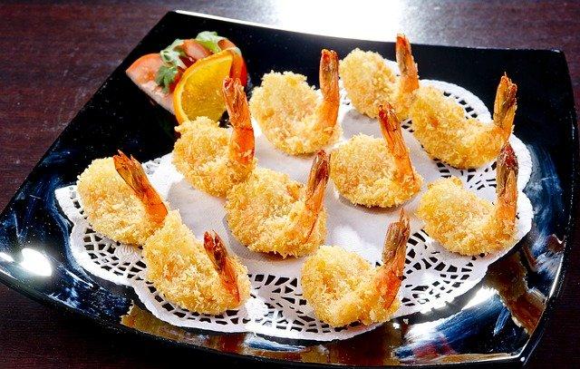 smažené krevety