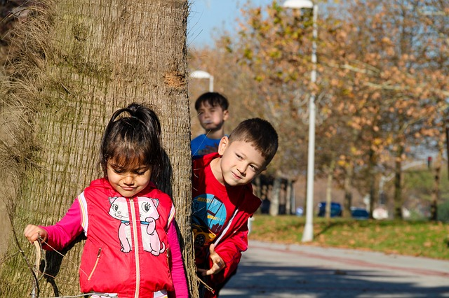 děti a venkovní hry