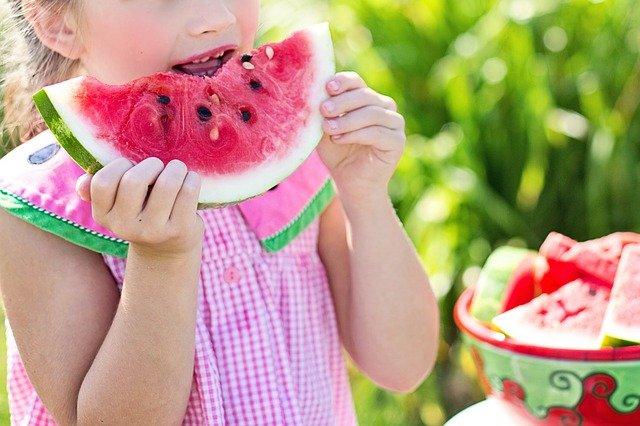 vodní meloun jako svačina