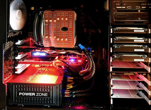 počítač zevnitř