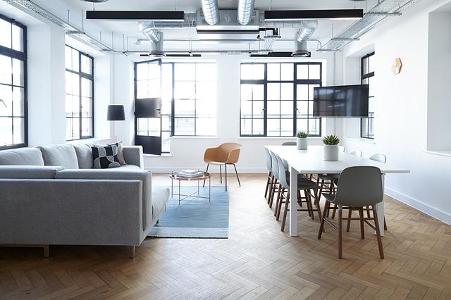minimalistický obývák